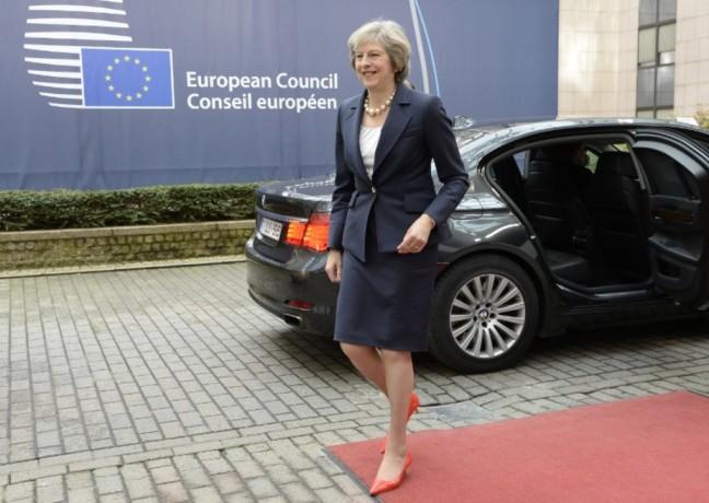 Le nouveau premier ministre britannique, Theresa May, à son arrivée à Bruxelles, le 20 octobre 2016. Thierry Charlier/AFP